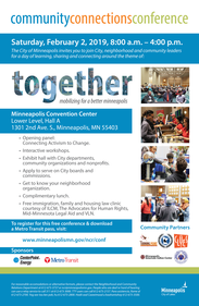 Image of 2019 Community Connections Conference English Poster