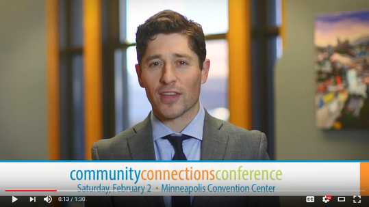 Screenshot of Mayor Frey Community Connections Conference 2019 invitation video