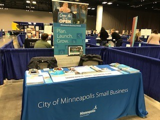 Small Business Team's table at the Community Connections Conference