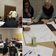 Collage of Neighborhoods 2020 community meetings from 2016
