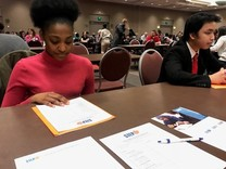 youth in mock interview photo