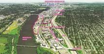 Upper Harbor Terminal map UHT bird's eye view