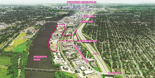 Upper Harbor Terminal site context diagram
