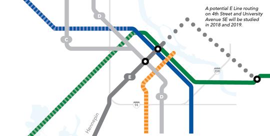 Metro Transit Bus Rapid Transit route map