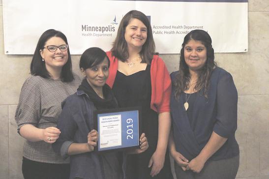 NENA holding their 2019 Public Health Hero Award