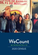 Alberder Gillespie, Mariano Espinoza and Monica Hurtado pose with DJ at La Raza Radio in April 30, 2019