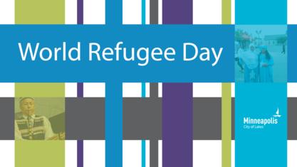 World Refugee Day banner illustration
