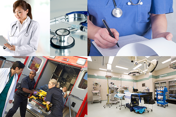 Careers in health care collage