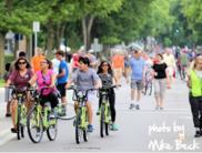 Minneapolis bikers in the street