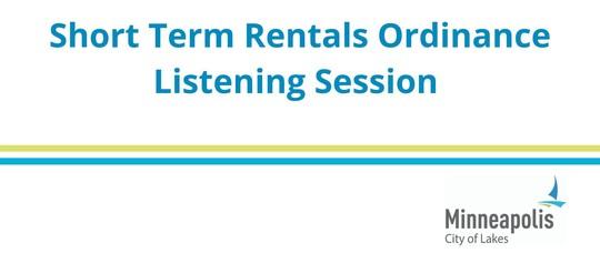 Short-Term Rental meeting