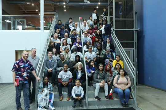 Mpls youth at Manufacturing Tour