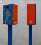 Syringe needle drop box