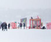 Art fair on a frozen lake