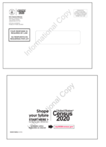 Census mailing envelope preview front and back verticle