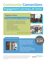 Learning Labs spring and census 2020 poster preview image