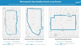 Maps of Stay Healthy Streets loop walk and bike routes