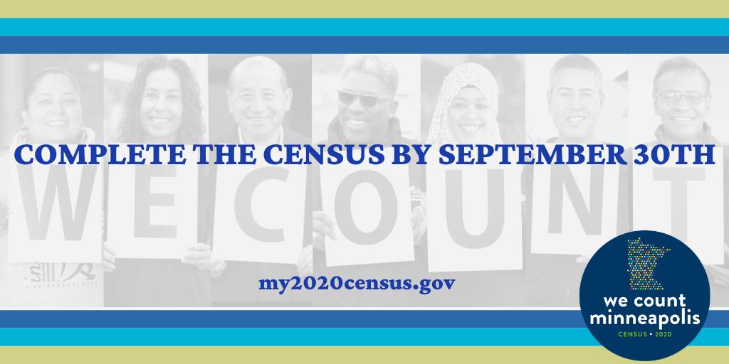 Census banner Sept. 30, 2020 deadline
