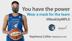 Minnesota Lynx face mask image - you have the power - social media