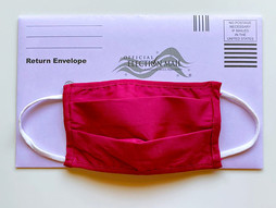 Ballot envelope with cloth mask 2020 election voting