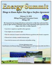 Energy Summit postcard