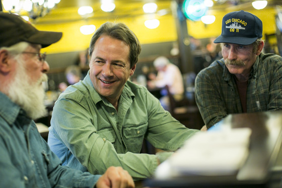 Governor Bullock with workers