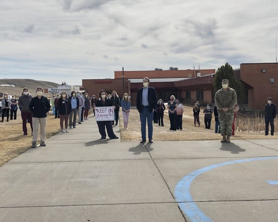 Governor Bullock visits Toole County, Montana health care workers
