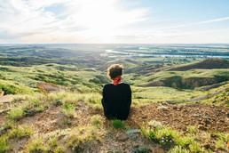 Montana landscape hiker