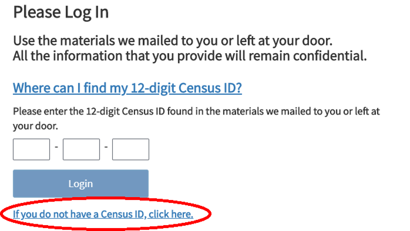 No Census ID No Problem