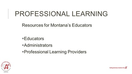 Video Tour of Professional Learning Website