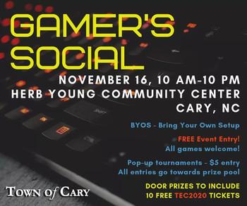 Gamer's Social November
