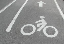 Bike pavement marking image
