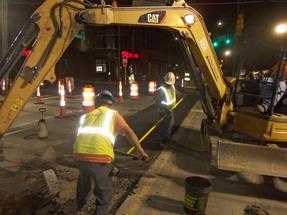 Hillsborough Street night work image