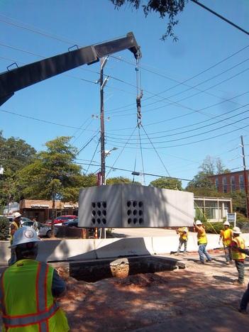 electrical and telecommunication manhole installation image