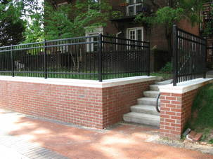 image of the new retaining wall at Fincastle Apartments