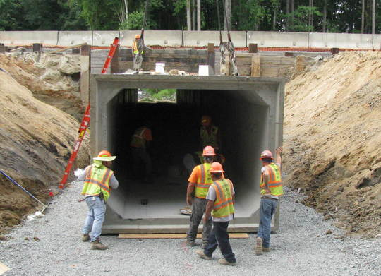 New Culvert on Mitchell Mill Road