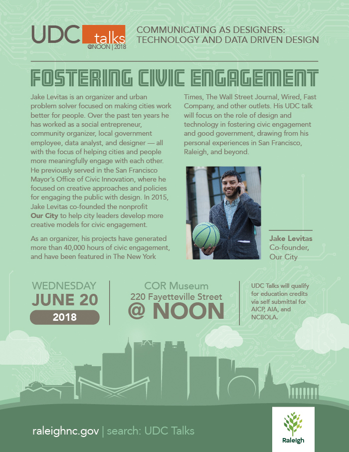 UDC Talks: Fostering Civic Engagement - Wednesday, June 20