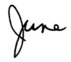 June Atkinson's Signature