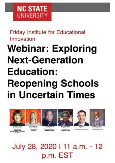 Webinar - Reopening Schools
