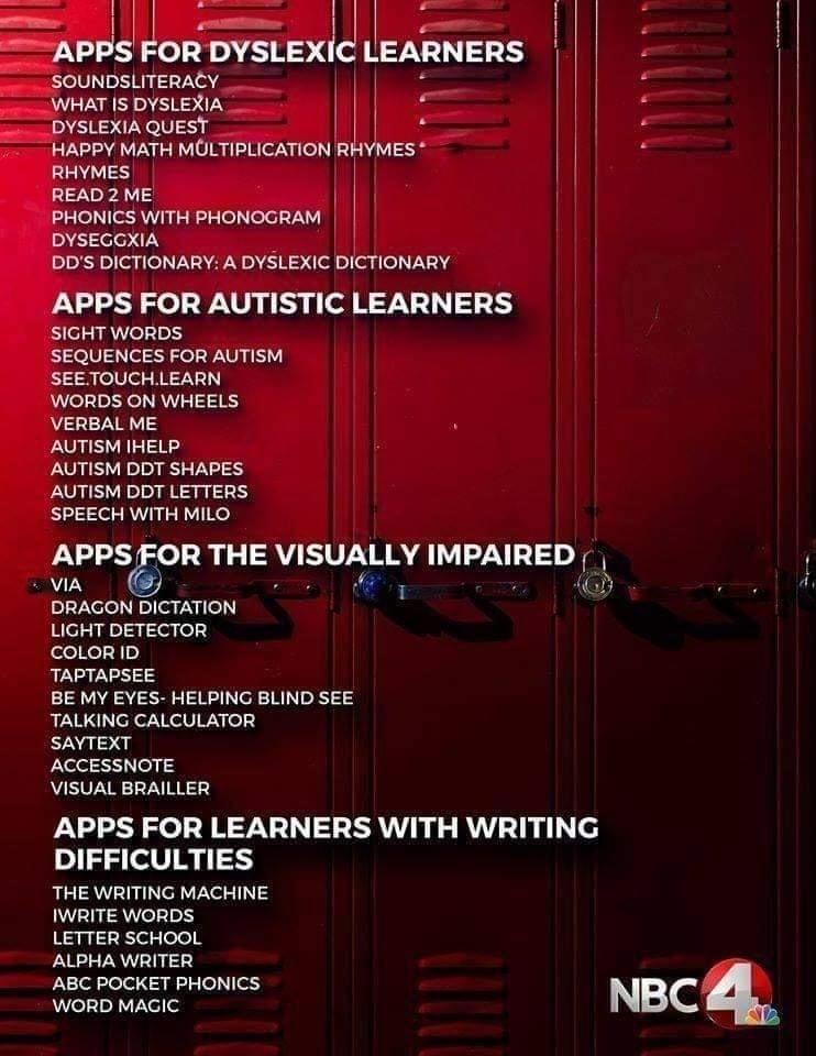 Special Education Apps NBC4