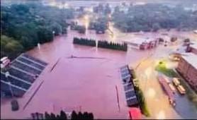 Flooded Pisgah Football Field 2021