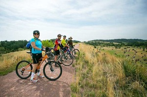 Bikers on the Cowboy Trail