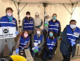 COVID-19 test site team