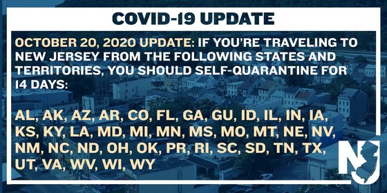 Travel advisory 10-20-20