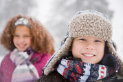 Children dressed for the snow