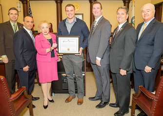 Monmouth County Board of Chosen Freeholders recognize Matthew Wysokinski