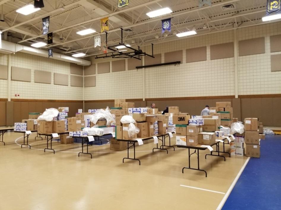 MCHD staff prepares PPE Shipment