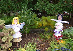 scarecrows in the garden