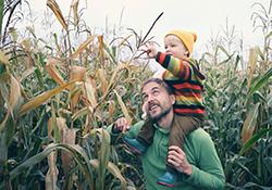 family farm stroll