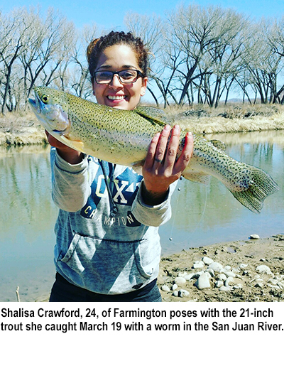 Nm game and fish fishing report for march 22 2016 krtn for Farmington river fishing report
