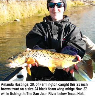 New mexico fishing and stocking reports for dec 6 for Farmington river fishing report